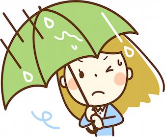台風の時の喘息について