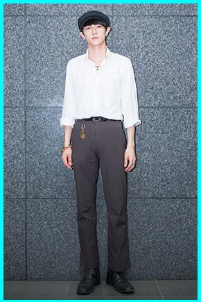 岩上隼也(メンズノンノモデル)の私服