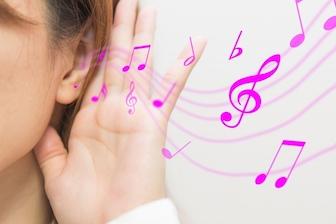 頭痛を抑える音楽
