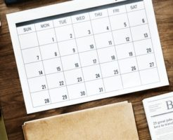 カレンダーでの管理