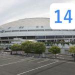 ナゴヤドームと谷元圭介の背番号