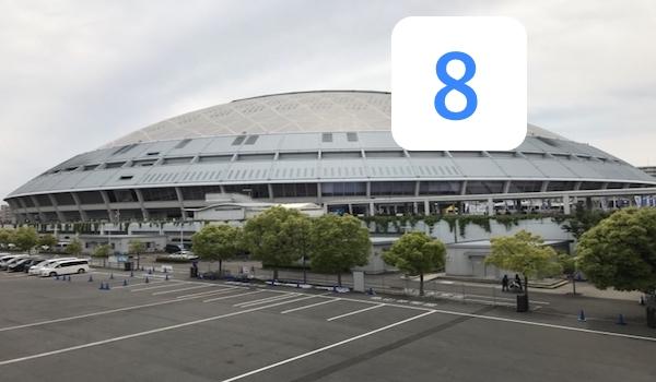 ナゴヤドームと大島洋平の背番号