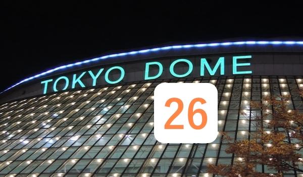 東京ドームと内海哲也の背番号