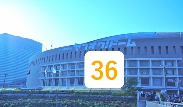 福岡ドームと牧原大成の背番号